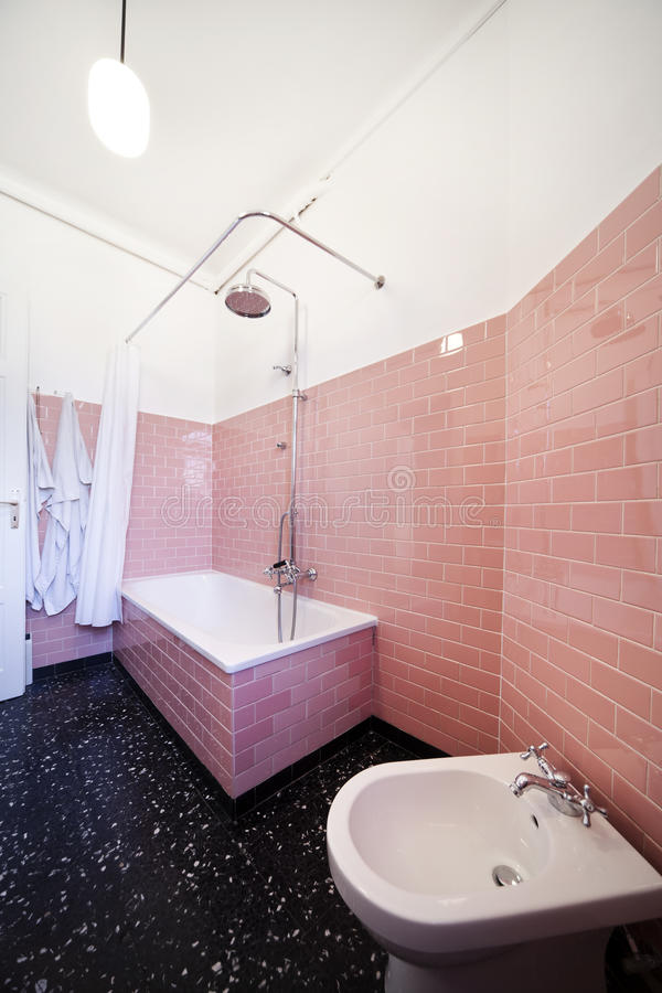 Nice apartment refitted, bathroom royalty free stock photography