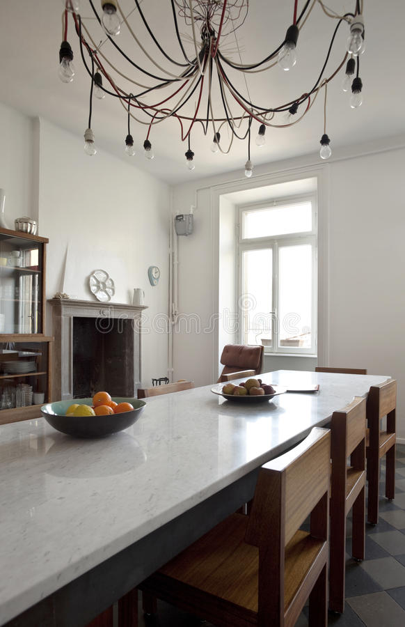 Nice apartment refitted, kitchen stock photography