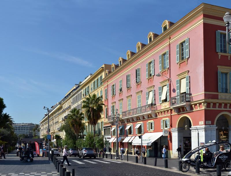 Nice Architectural Building Panorama in Provence, France. stock photo