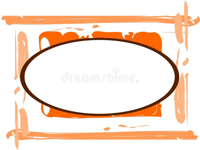 Nice artistic colorful frame. An idea with a banner with artistic decoration. An idea that can be used in different projects royalty free illustration
