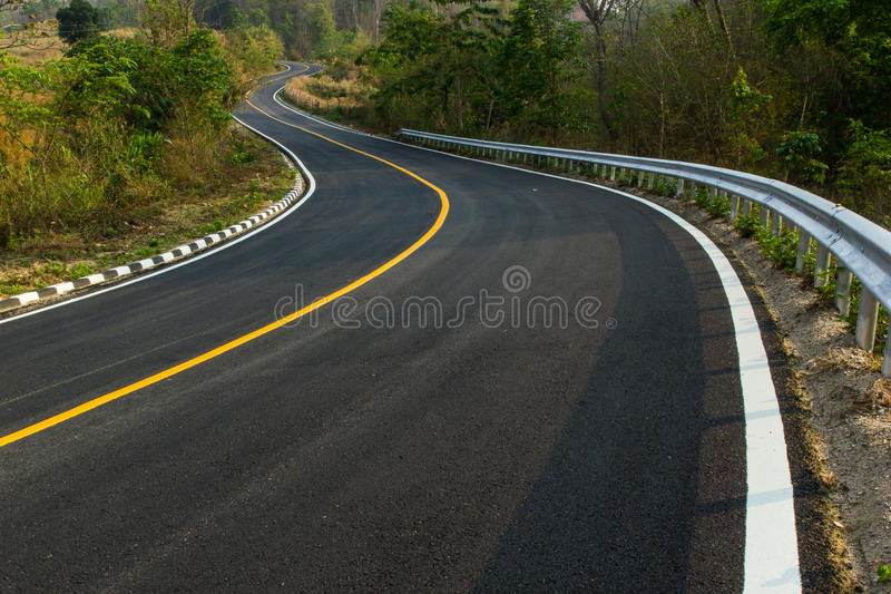 Nice asphalt road stock images