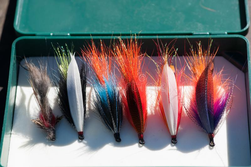 Steelhead Flies - Kispiox Favorites Assortment stock image