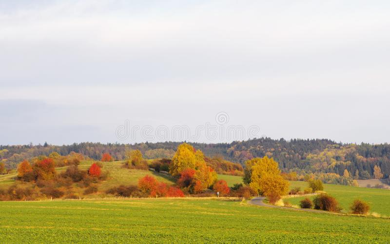 Czech countryside stock image
