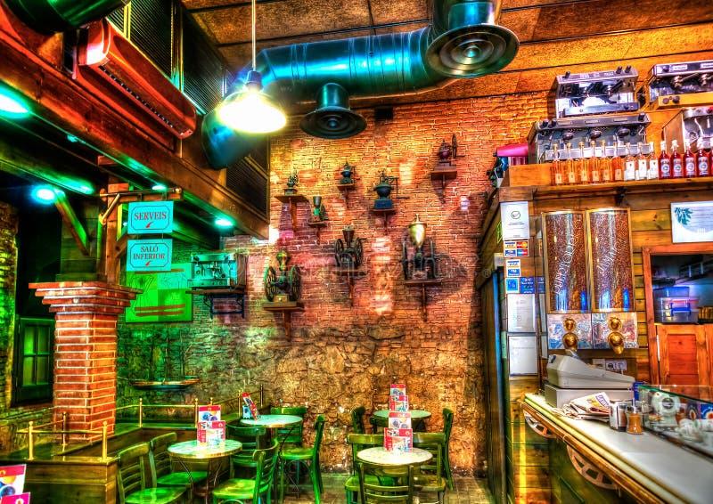 Nice bar interior royalty free stock photos