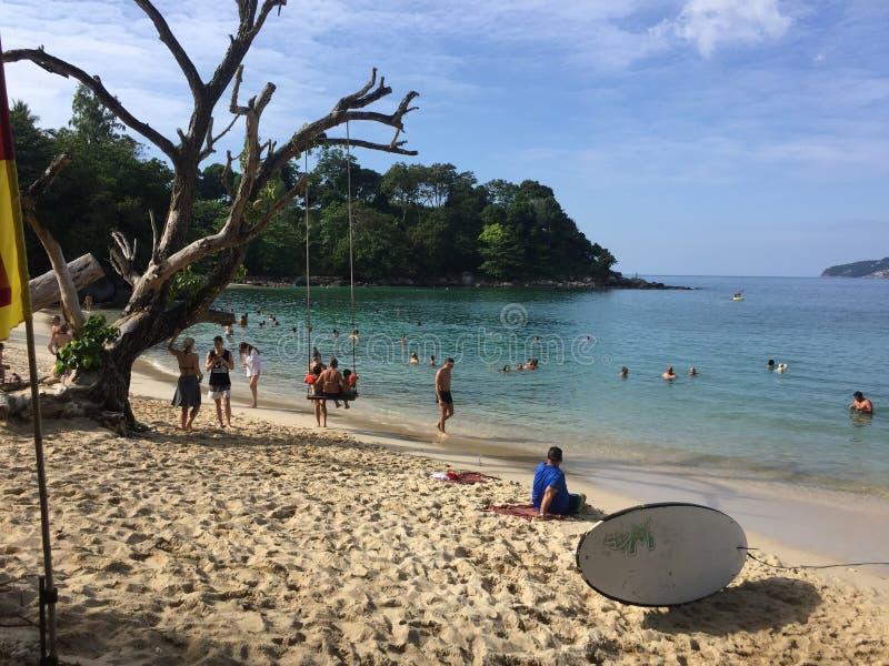 Nice beach at Phuket Thailand royalty free stock photo