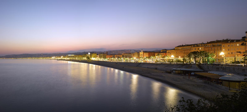 Download Nice :  Beach Panorama At Night Royalty Free Stock Photo - Image: 11524475