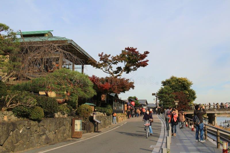 NIce and beautiful old fashioned Japanese grocery shop style in. Arashiyama Kyoto, Japan royalty free stock photography
