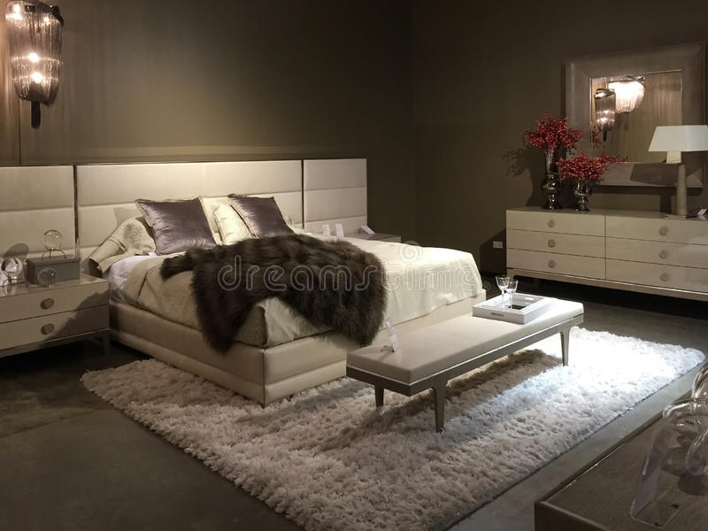 Download Nice  Bedroom Furniture Selling At Store Stock Image - Image: 58359465