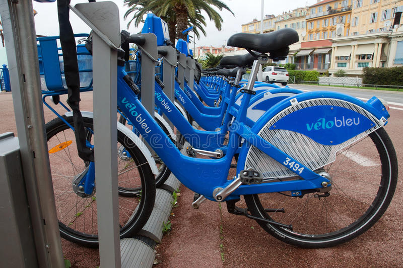 Download Nice - Bicycles editorial stock photo. Image of europe - 34525603