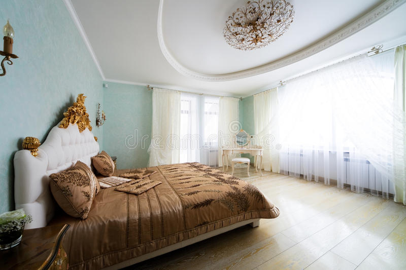 Nice big bed royalty free stock images