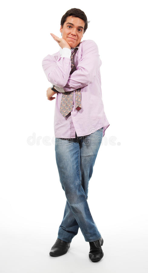 Nice, a bit embarrassed man royalty free stock image