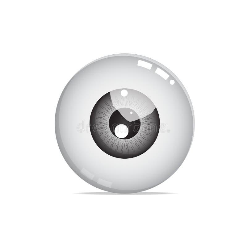 Nice black eye ball vector. Is a general illustration royalty free illustration