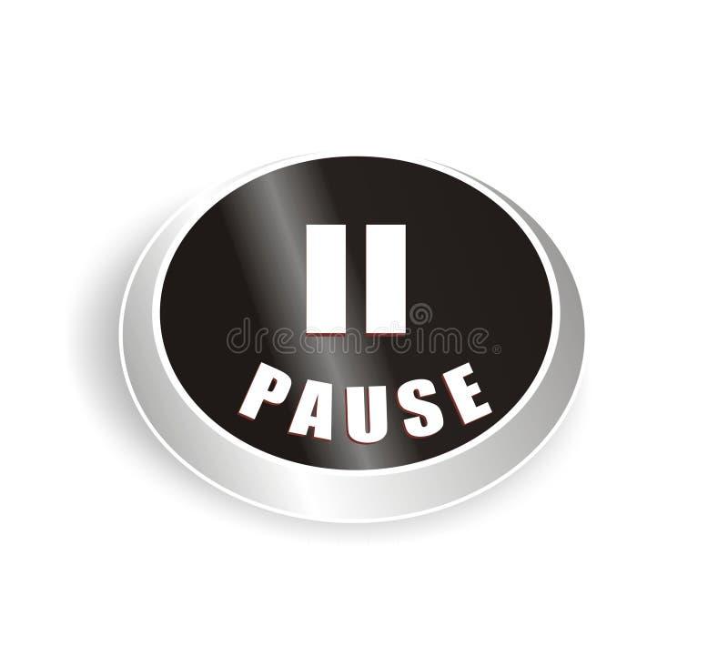 Nice Black Pause Button Royalty Free Stock Photos