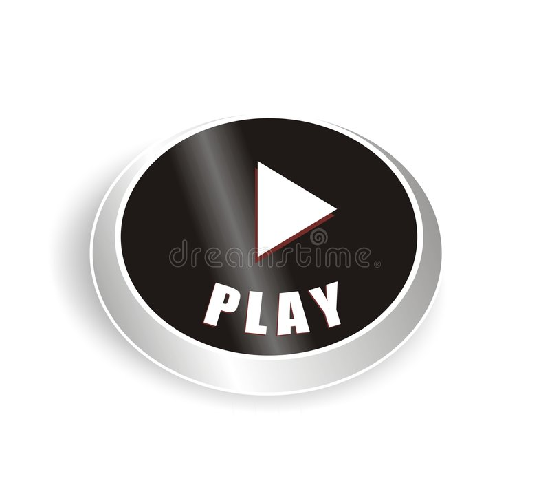 Download Nice black play button stock vector. Image of button, black - 4740044