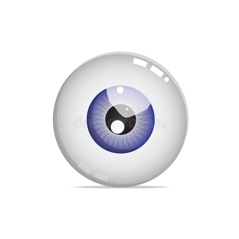 Nice blue eye ball vector. Is a general illustration vector illustration