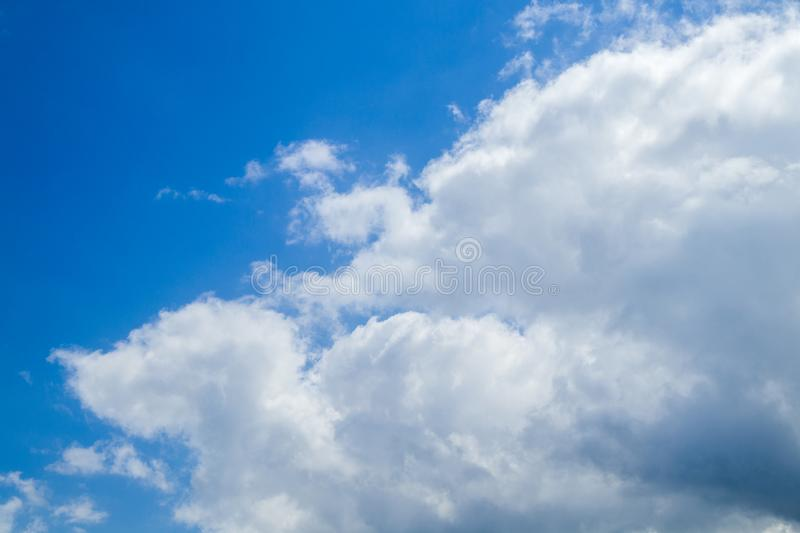 Nice blue sky and clouds royalty free stock photo