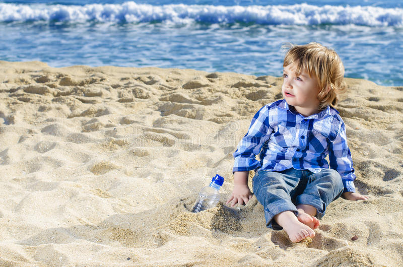 Download A nice boy on the beach stock photo. Image of child, outdoors - 27972280