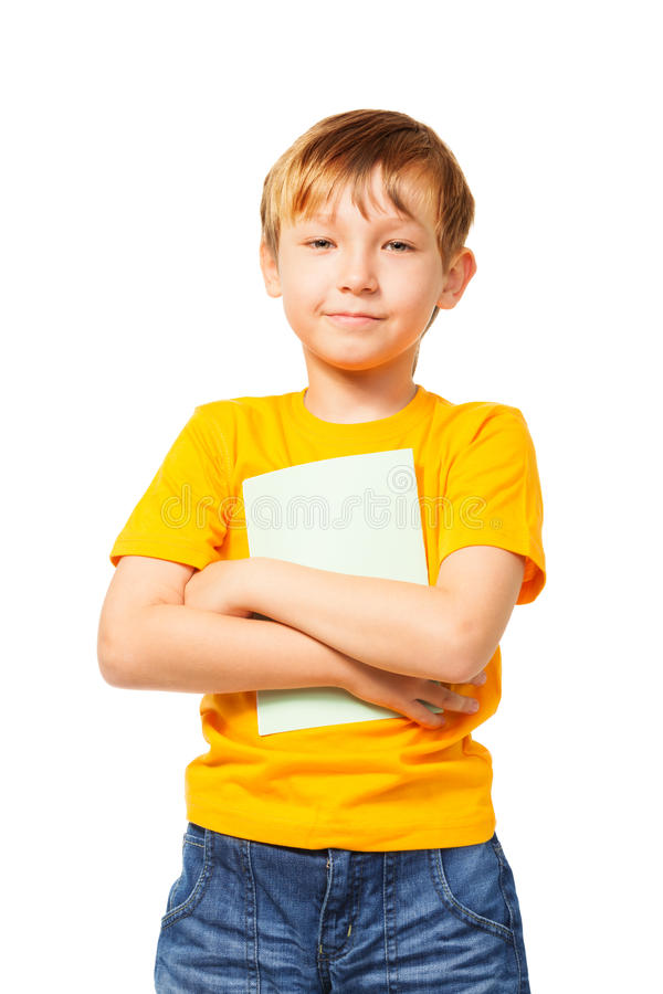 Nice Boy With Exercise Book Stock Photography