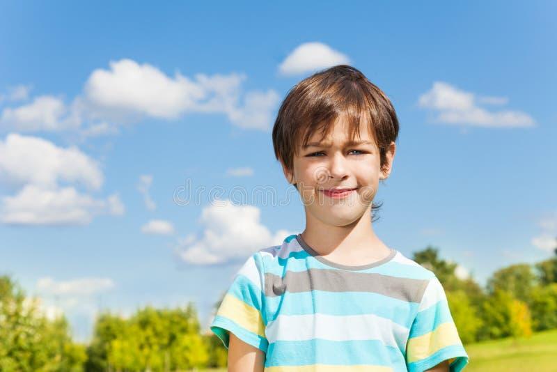Nice boy summer portrait stock photo