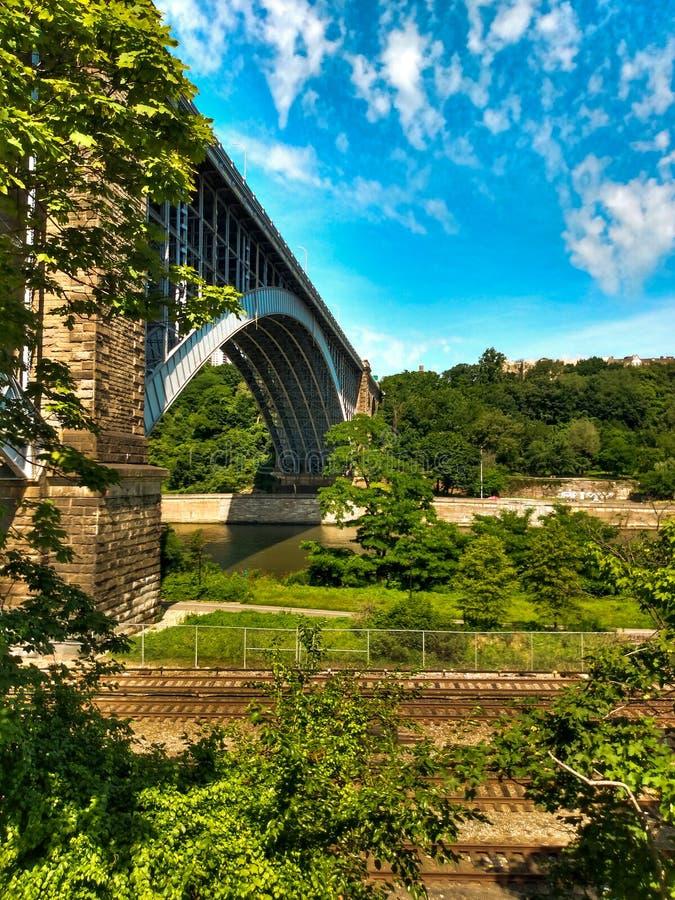 Nice bridge in New York stock photo