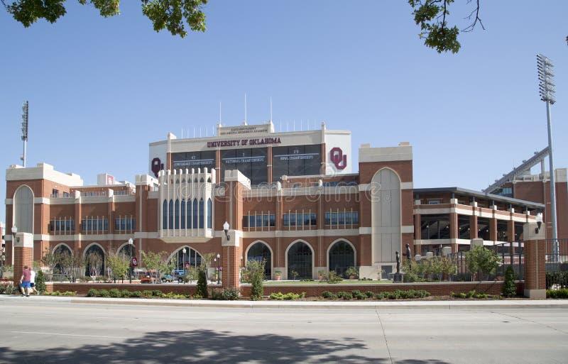 Nice building Oklahoma Memorial Studium exterior USA stock image