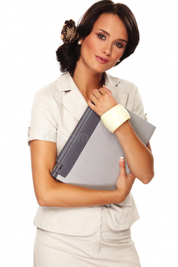 Download Nice Business Woman On White Background Stock Photo - Image: 15089894