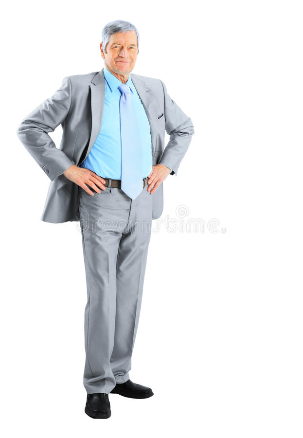 Nice businessman at the age of. royalty free stock images