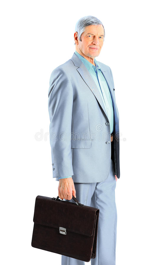 Nice businessman at the age stock image