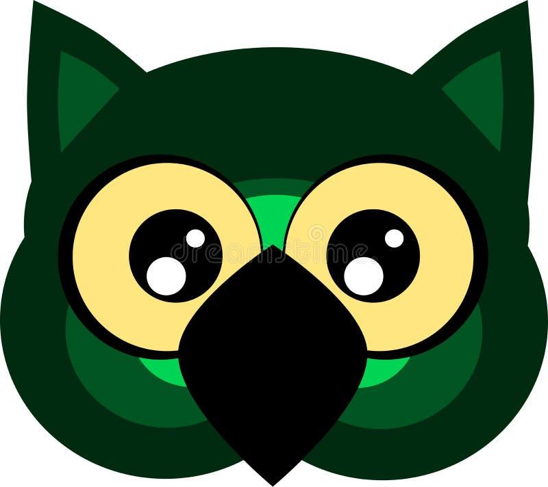Nice Cartoon Owl Face Isolated Stock Vector - Illustration ...