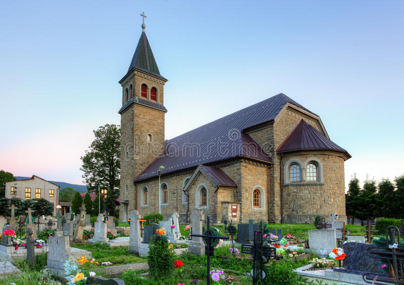 Nice Catholic Church In Village Babin Stock Photography