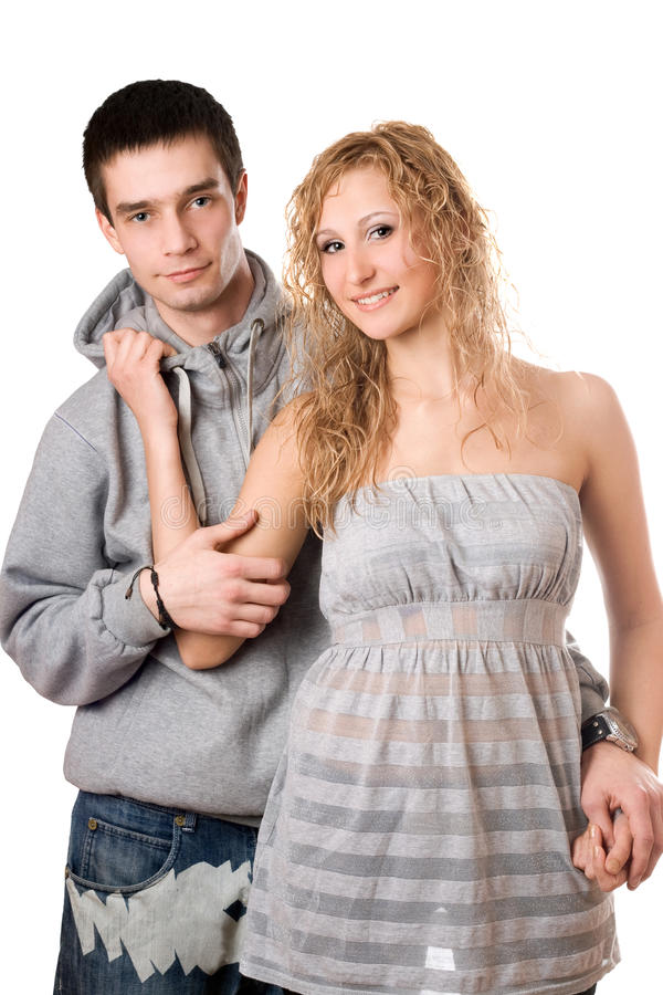 Nice cheerful couple stock images