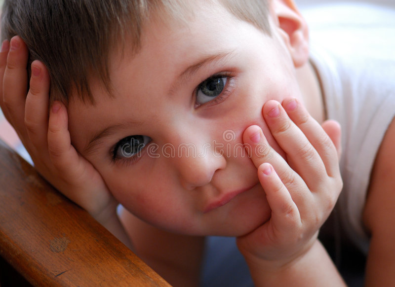 Download Nice child stock image. Image of close, think, brown, hair - 2496617
