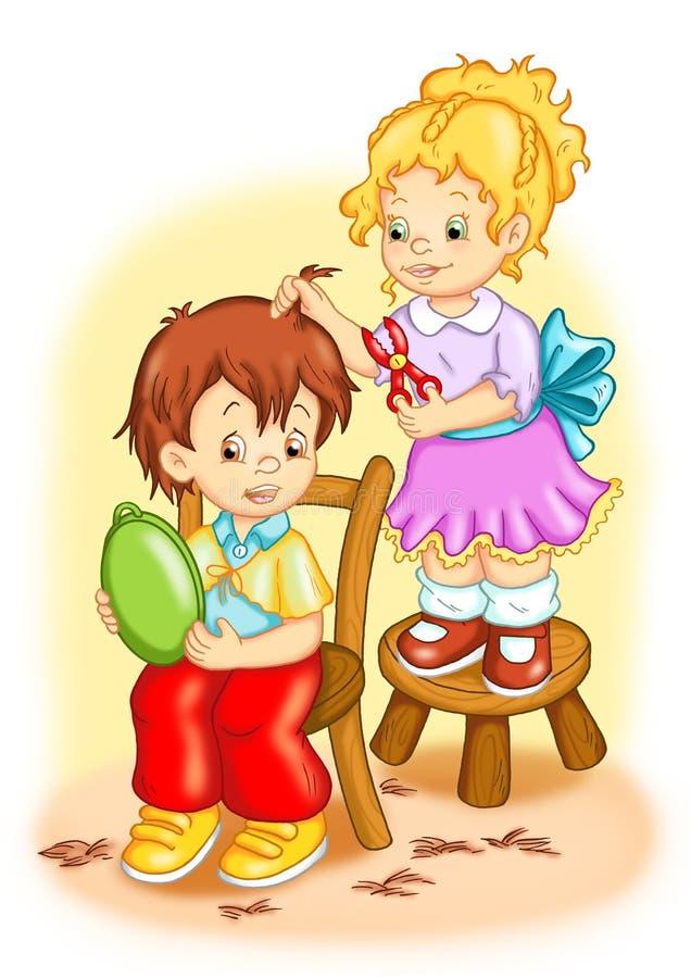 Nice children royalty free illustration