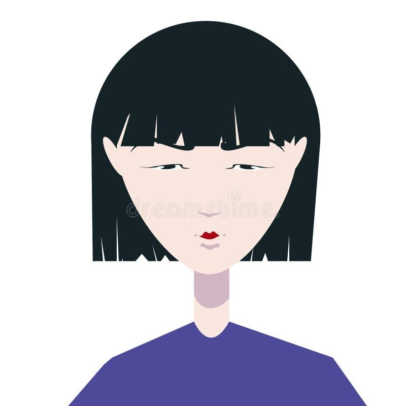 Nice Chinese girl royalty free illustration