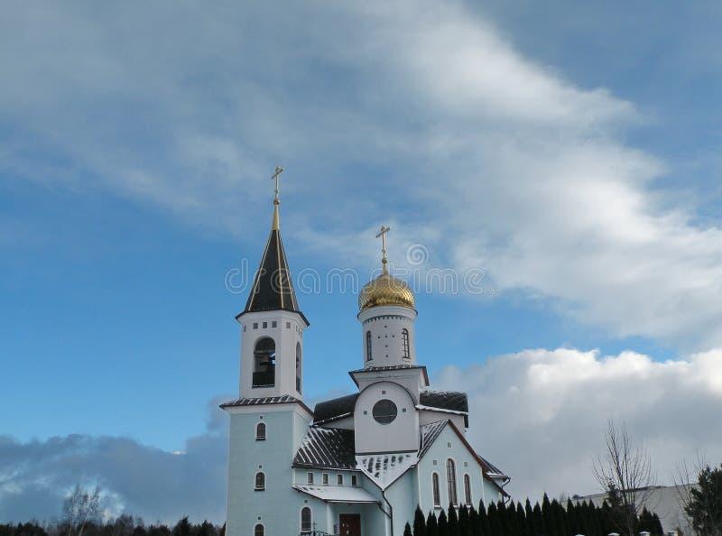 Beautiful white church, Lithuania royalty free stock image