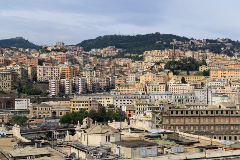 Cityscape of Genoa Italy stock photo