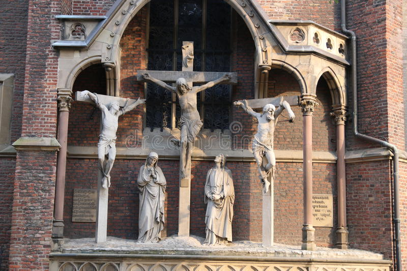 Jesus Christ crucifixion statue royalty free stock photography