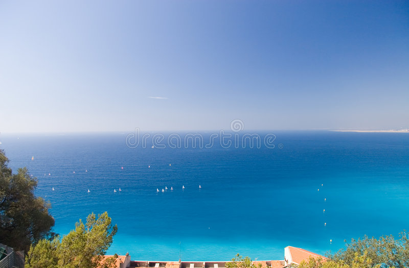 Nice coast royalty free stock photography