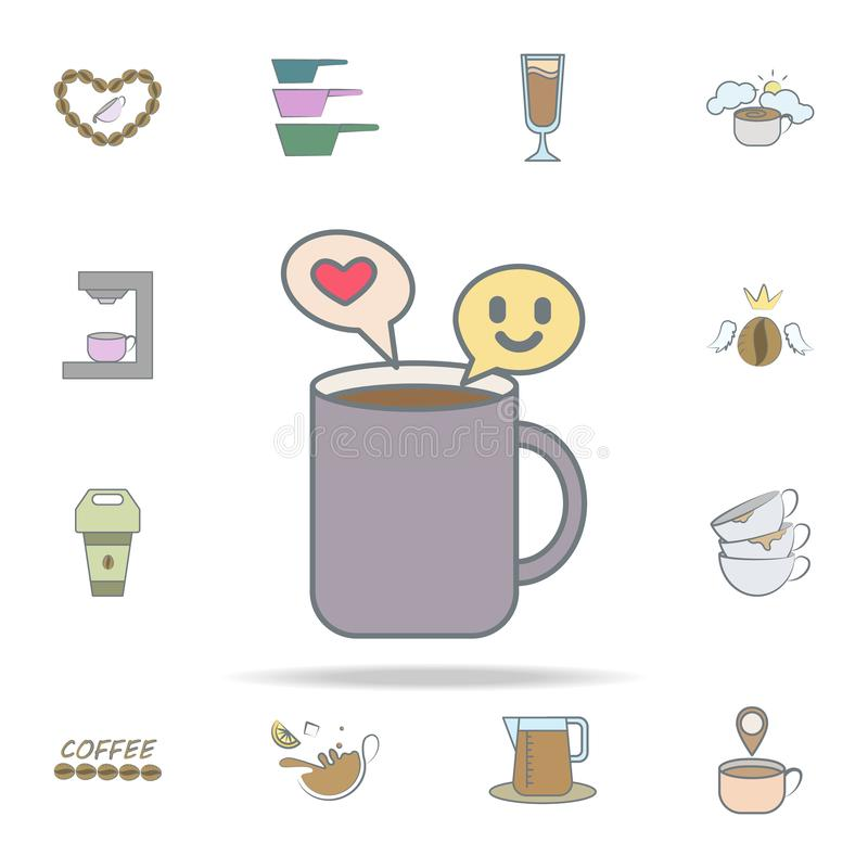 nice conversation for coffee icon. coffee icons universal set for web and mobile vector illustration