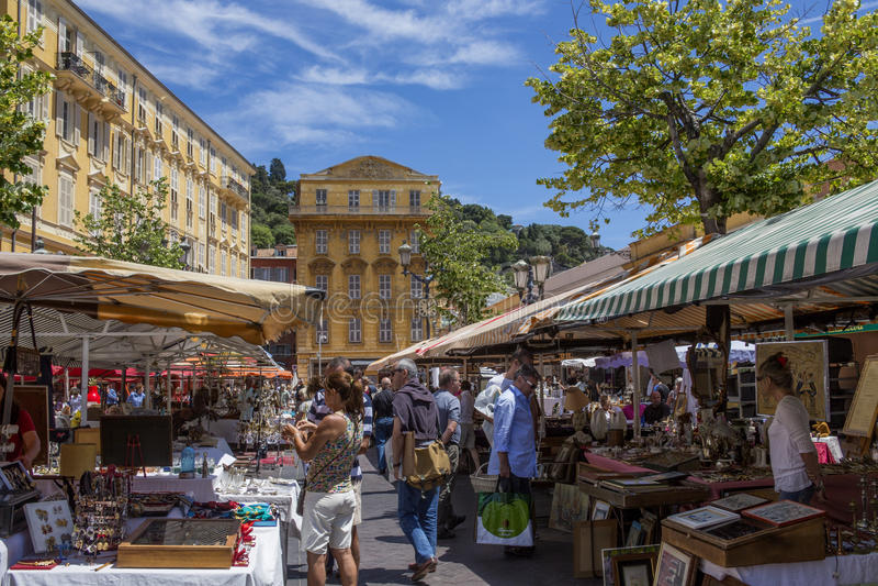 Nice - CotedAzur - söder av Frankrike. royaltyfri fotografi