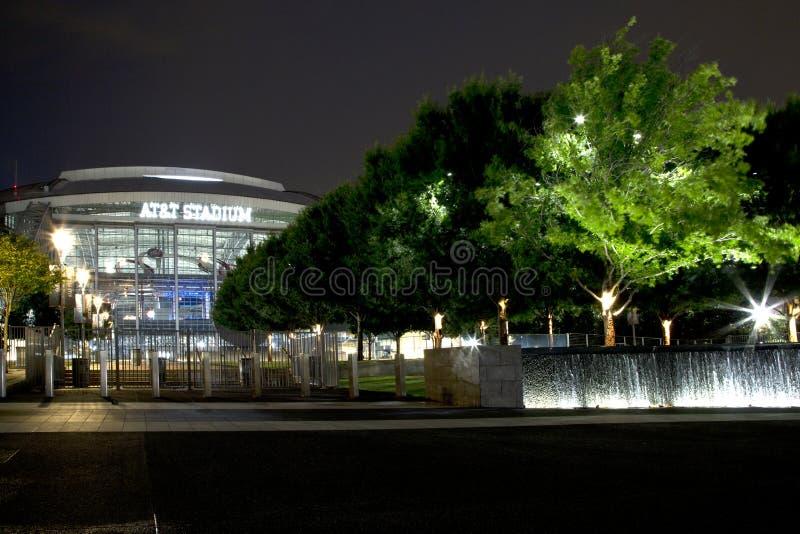 Nice Cowboy stadium at night royalty free stock photos