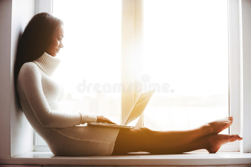 Nice day at home. stock photography