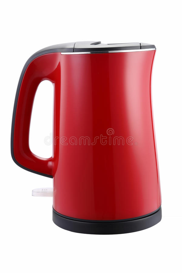 Nice design of modern kettle water boiler for your kitchen an image isolated on white royalty free stock photography