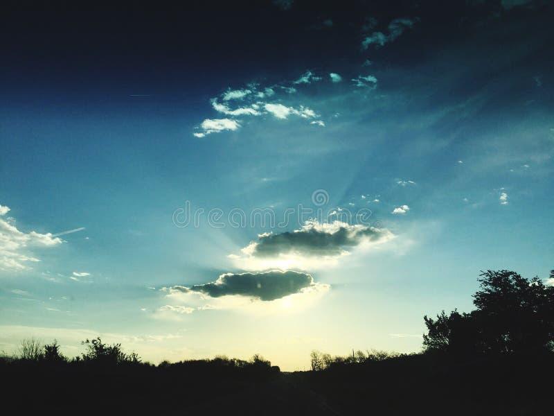 Nice die hemel kijken royalty-vrije stock fotografie