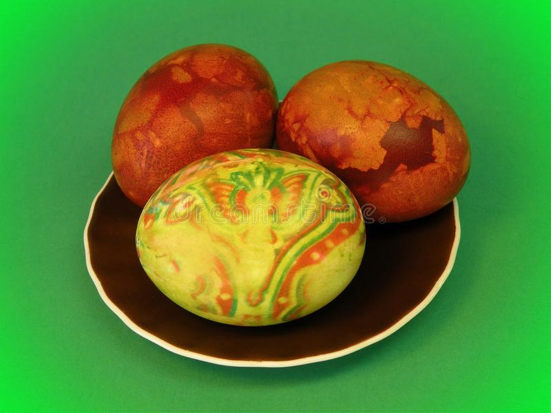 Beautiful colored Easter eggs, Lithuania royalty free stock image