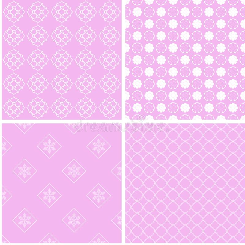 Nice different vector seamless patterns. royalty free illustration