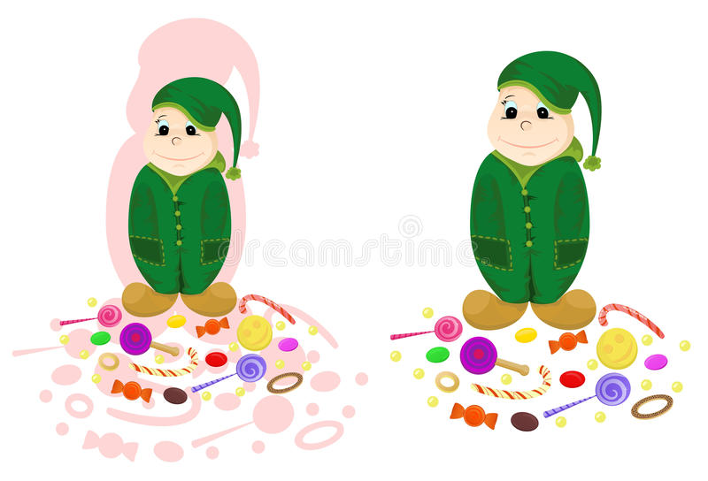 Download Nice dwarf with candies stock vector. Illustration of character - 11389736
