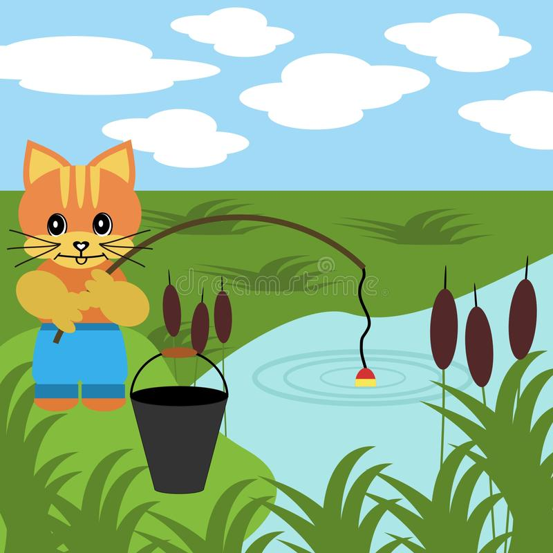 Nice fishing cat