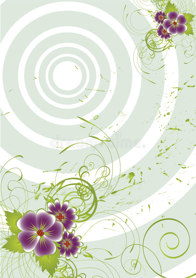 Free Nice Flower Grunge Background Royalty Free Stock Image - 11370076