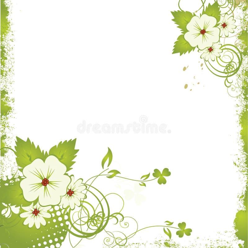 Nice flower grunge background vector illustration